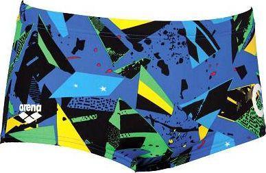 Arena Kąpielówki M C LE C LOW WAIST SHORT żółto-niebieskie r. XL