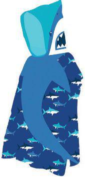 AQUAWAVE Ręcznik Shark Poncho Shark Print niebieski 60x120cm