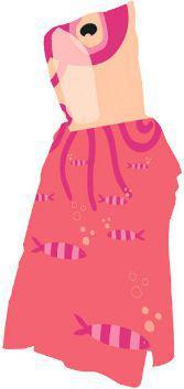 AQUAWAVE Ręcznik Octus Poncho Octus Print różowy 60x120cm