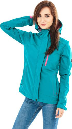 Hi-tec Kurtka damska LADY MARISA SOFTSHELL Tecproof 8 000 HARBOR BLUE/HONEYSUCKLE r. S