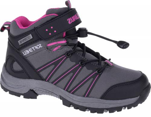 ELBRUS Buty juniorskie Soren Mid WP Jr Black/Dk.Grey/Fuschia r. 30