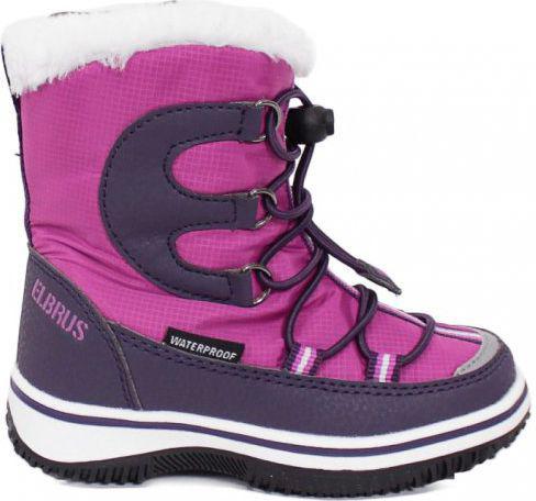 ELBRUS Dziecięce obuwie zimowe za kostkę NASCA MID WP KIDS, kolor fioletowy, rozmiar 22