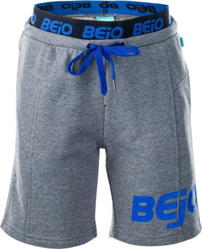 BEJO Szorty juniorskie Grilo Kids Light Grey Melange/Princess Blue r. 128