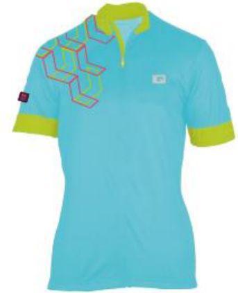 IQ Koszulka rowerowa Sore Wmns r. XL niebiesko-zielona
