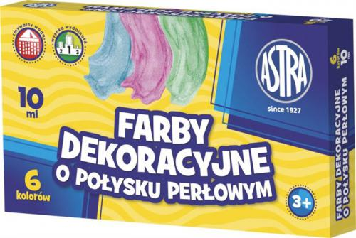 Astra Farby plakatowe 6 kolorów/10 ml perłowe