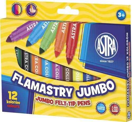 Astra Flamastry 12 kolorów Jumbo (202175)