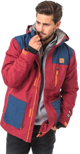 Elbrus Męska Kurtka Norman Cabernet/Ensign Blue/Rust Orange r. L