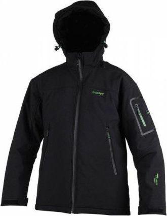 Hi-tec Męska Kurtka GINNY II Black/Pear Green r. XL