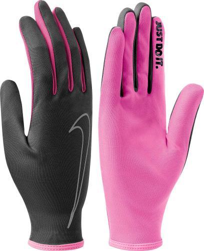 Nike Rękawiczki damskie Rally Run Gloves Black/pink Pow/pink Pow r. S