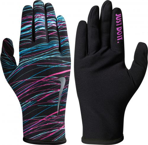Nike Rękawiczki damskie Printed Lightweight Rival Run Gloves 2.0 Black/silver r. M