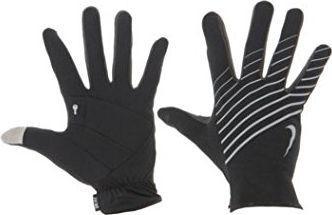 Nike Rękawiczki damskie  Lightweight Tech Run Gloves czarno-szare r.XS
