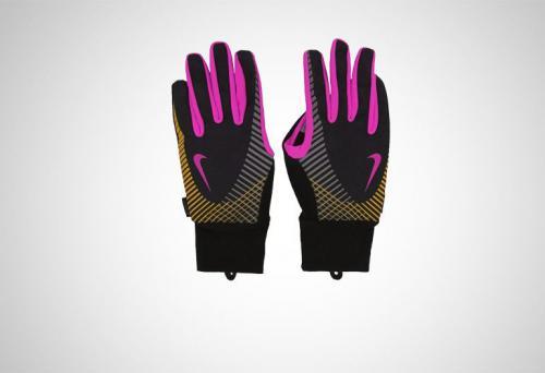 Nike Rękawiczki sportowe Elite Storm Fit Tech Run Gloves Black/Club Pink/Laser Orange r. M