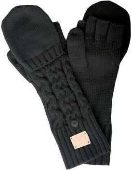 Nike Rękawiczki damskie Chunky Cable Knit Gloves czarne r. XS/S