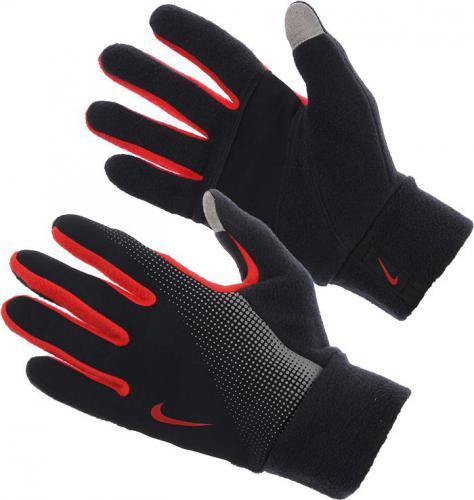 Nike Rękawiczki męskie Thermal Tech Run Gloves czarno-czerwone r. S
