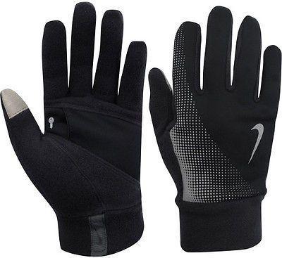 Nike Rękawiczki męskie Thermal Tech Run Gloves Anthracite/black r. S