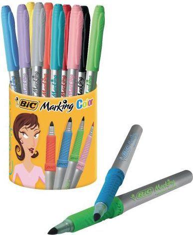 Bic Marker permanentny 10 kolorów w kubku (BICC0457)