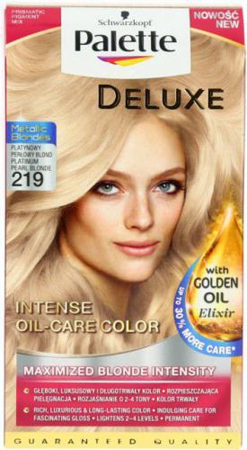 Schwarzkopf PALETTE DELUXE 219 platynowy perłowy blond