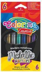 Colorino Flamastry 6 kolorów metalizowane