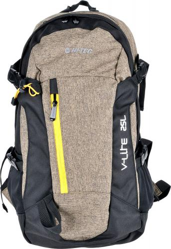 Hi-tec Plecak FELIX 25L BLACK/GOLD MELANGE/YELLOW ZIPPER