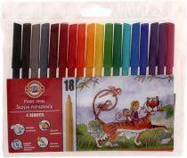 Koh-I-Noor Flamastry 18 kolorów (WIKR-935934)