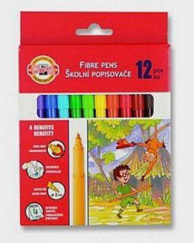 Koh-I-Noor Flamastry 12 kolorów w kartoniku (WIKR-061030)