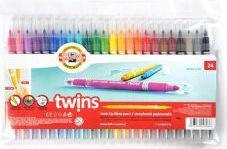 Koh-I-Noor Flamastry dwustronne 24 kolory (WIKR-905425)