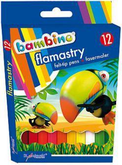 St. Majewski Flamastry 12 kolorów Bambino (WIKR-088007)