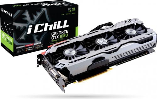 Karta graficzna Inno3D GeForce GTX 1080 X4 8GB GDDR5X (256 Bit) DVI-D, HDMI, 3xDP, BOX (C108X4-2SDN-P6DNX)