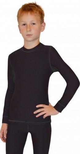 Gwinner Koszulka dziecięca TOP JUNIOR SHIRT WARMLine czarna r. 152/158 cm
