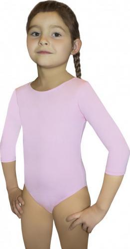 Gwinner Body dziewczęce BODYSUIT GIRLS ¾ SLEEVE LEOTARD (140)