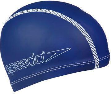 Speedo Czepek Silikonowo-Materiałowy JR  Granatowy (48195)