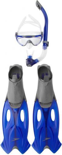 Speedo Glide Mask, Snorkel Fin SetGrey/Blue - Zestaw do nurkowania ABC; r. 39- - 12672