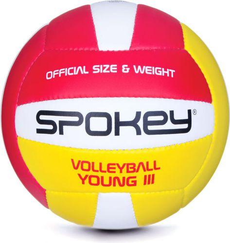 Spokey Piłka do siatkówki Young II 5 Spokey czerwono-żółto-biały roz. uniw (920105)