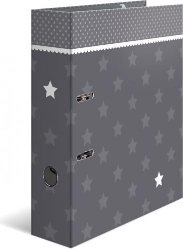 Segregator Herma A4 Sterne grau mit Bodüre (7189)