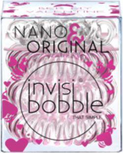 Invisibobble NANO & ORIGINAL Bee mine - 3 NANO przeźroczyste + 3 ORIGINAL błyszczący róż