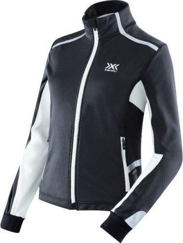 X BIONIC Kurtka damska RUNNING LADY WINTER SPHEREWIND LIGHT czarno-biała r. XS(025-Z0000-O100382B119001-776)