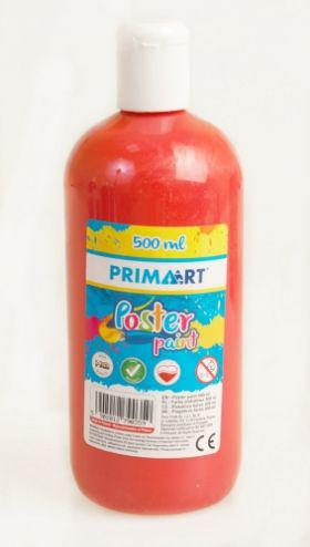 PRIMART Farba plakatowa 500ml czerwona