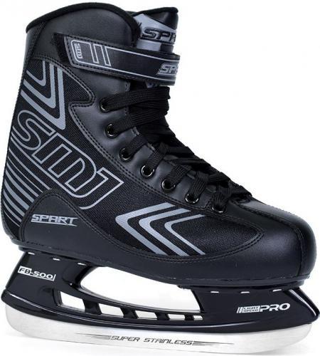 SMJ sport Łyżwy hokejowe Spart czarne r. 42 (8966)