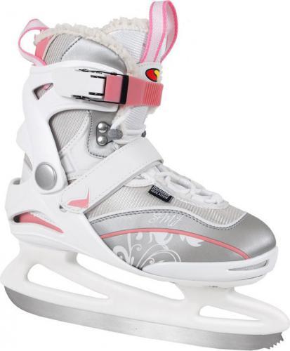 SMJ sport Łyżwy figurowe RX21 Lady Soft roz 38 biało-różowe - 6697