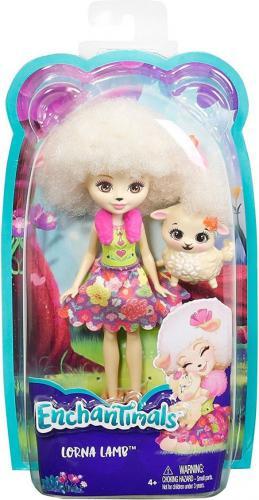 Mattel Enchantimals  Lalka + Zwierzątko. Lorna Lamb (DVH87/FCG65)