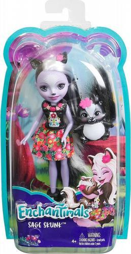 Mattel Enchantimals  Lalka + Zwierzątko. Sage Skunk (DVH87/DYC75)
