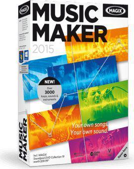 Program Magix Music Maker 2015,  - Box,  DVD,  Win,  angielski (790295)