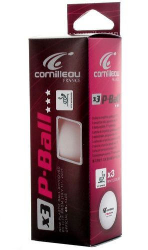 Cornilleau Piłeczki do ping ponga Cornilleau P-Ball ITTF komplet 3szt. (8611)