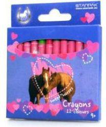 Starpak Kredki woskowe 12 kolorów Horses