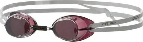 Speedo Okulary pływackie Swedish Mirror bordowo-białe (8-706062150)