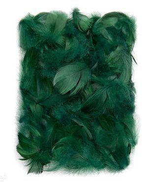 DP Craft PiĂłrka dekoracyjne 5-12 cm Dark Green CEPI-024