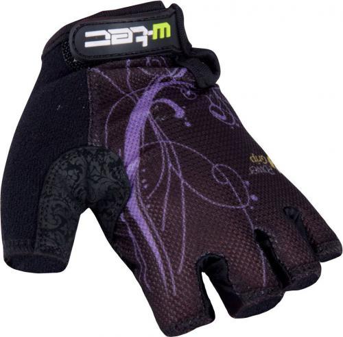 W-TEC Damskie rękawiczki Mison czarno-fioletowy, Rozmiar S
