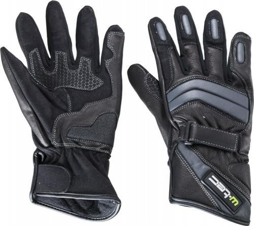 W-TEC Rękawice motocyklowe skórzane NF-4134 czarno-białe r. M  (12125-M)
