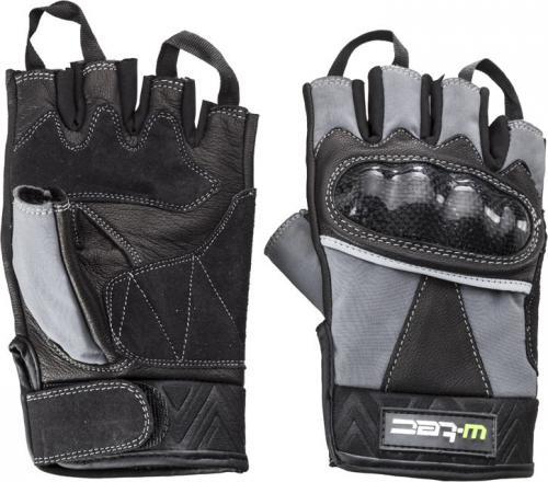 W-TEC Rękawice motocyklowe skórzane NF-4190 czarno-szare r. S  (12140-2-S)
