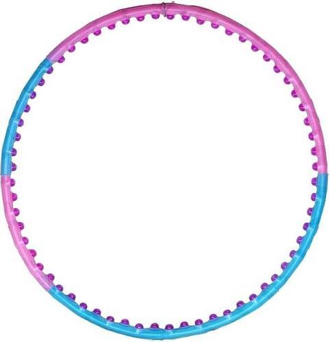 Jinpoli Hula Hop Wide niebiesko-różowe 110cm (5696)
